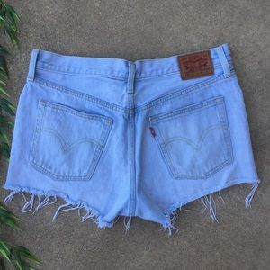 Levi's Button Fly Raw Hem Jean Shorts